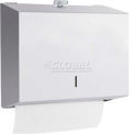 A&J Washroom Towel Dispenser U180A-TK, C-Fold/Multifold, W/Twist Lock, Surface Mounted