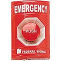 Push Station, Emergency, Red