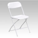 Flash Furniture Plastic Folding Chair - White - Pkg Qty 10