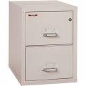 "Fireking Fireproof 2 Drawer Vertical File Cabinet - Letter Size 18""W x 31-1/2""D x 28""H - Light Gray"