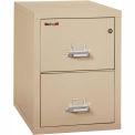 "Fireking Fireproof 2 Drawer Vertical File Cabinet - Legal Size 21""W x 31-1/2""D x 28""H - Putty"