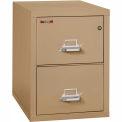 "Fireking Fireproof 2 Drawer Vertical File Cabinet - Legal Size 21""W x 31-1/2""D x 28""H - Sand"
