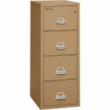 "Fireking Fireproof 4 Drawer Vertical File Cabinet - Letter Size 18""W x 25""D x 53""H - Sand"