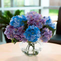OfficeScapesDirect Hydrangea Centerpiece Silk Flower Arrangement - Lavender/Blue