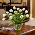 OfficeScapesDirect Abundance of Tulips Silk Flower Arrangement - Cream