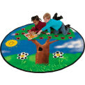 Children Educational Rugs ALPHA TREE 8FT Round