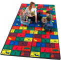 Children Educational Rugs Spanish AMIGOS 12X18
