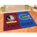 "Seminoles - Florida House Divided Rug 34"" x 45"""