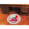 """Cleveland Indians Baseball Rug 29"""" Dia."""