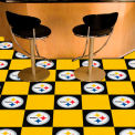 "Pittsburgh Steelers Carpet Tiles 18"" x 18"" Tiles"