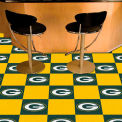 "Green Bay Packers Carpet Tiles 18"" x 18"" Tiles"