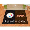 "Pittsburgh Steelers - Cleveland Browns House Divided Rug 34"" x 45"""