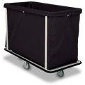 "Forbes Laundry Cart 1120 HD Cloth 47""L x 22""W x 39""H, 15 Bushel, Black"