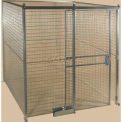 Qwik-Fence® Wire Mesh Pre-Designed, 4 Sided Room Kit, W/O Roof 8'W X 8'D X 8'H, W/Slide Door