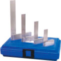 """Fowler® 4 Piece Steel Square Set - 2"""", 3"""", 4"""" & 6"""" with Shop Hardened Case"""