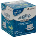 GP Angel Soft Ultra Professional Series 2-Ply Facial Tissue, 125 Sheets/Box, 10 Boxes/Case - 4836014