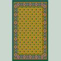 "Decor Mat - Green 36"" x 60"""