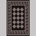 "Decor Mat - Checkerboard Silver 48"" x 72"""