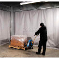 Stock Climate Curtain W/Hardware, 1 Panel Qty, Overall Dimensions 5'W X 10'H, Orange