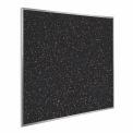 Ghent® Recycled Rubber Tackboard, Aluminum Trim, 48-1/2