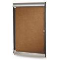 Ghent® Silhouette Upscale Wall-Mounted Enclosed Tackboard, Camel, 27-3/4