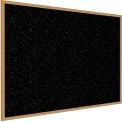 Ghent® Recycled Rubber Tackboard, Oak Trim, 60-5/8