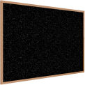 "Ghent® Recycled Rubber Bulletin Board, Oak Trim, 60-5/8""W x 48-5/8""H, Tan Speckled"
