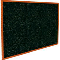 "Ghent® Recycled Rubber Bulletin Board, Cherry Oak Trim, 60-5/8""W x 36-5/8""H, Tan Speckled"