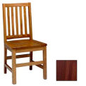 "Mission Chair, Vertical Slats 17-5/6""W X 19""D X 37""H, Walnut Finish"