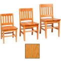 "Vertical Back Slat Classroom Chair 16""W X 15-1/4""D X 29""H, Provincial Finish"