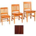 """Vertical Back Slat Classroom Chair 16""""W X 15-1/4""""D X 29""""H, Walnut Finish"""