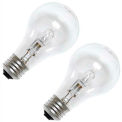 GE 78797 Incandescent Bulb A-19 Medium Screw, 1050 Lumens, 100 CRI, 53W, 120V, 2-pack - Pkg Qty 2