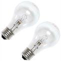 GE 78797 Halogen Bulb A-19 Medium Screw, 1050 Lumens, 100 CRI, 53W, 120V, 2-pack, Clear