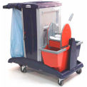 Modular Plastic Cart - Base Unit W/ Bucket & Wringer Combo