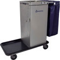 Escort® Stainless Steel Housekeeping Cart W/ Self Locking Door