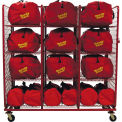 "S.O.S. Rack™ Gear Bag Storage, 76""W x 32""D x 81""H, Red"