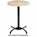 "Grosfillex® 30"" Round Outdoor Table Top Only No Umbrella Hole - Boulder"