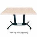 Grosfillex® Aluminum Tilt Top Lateral Table Base- Black