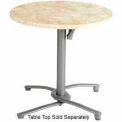 Grosfillex® Aluminum Tilt Top Table Base 200 - Silver Gray