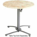 Grosfillex® Aluminum Tilt Top Table Base 100 - Silver Gray