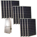 Grape Solar 3,500-Watt Monocrystalline PV Grid-Tied Solar Power Kit