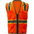 GSS Safety 1702, Class 2 Heavy Duty Safety Vest, Orange, 4XL