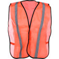 """GSS Safety 3002 Non-ANSI Economy Vest with 1""""W Stripe, Orange with Silver Stripes, One Size Fits All"""