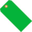 "#6 Green Fluorescent Tag Pack 5-1/4"" x 2-5/8"" - 1000 Pack"