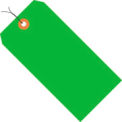 4-1/4 x 2-1/8 #4 Green Fluorescent Wired Tag - 1000/Pack