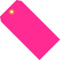 5-3/4 x 2-7/8 #7 Pink Fluorescent Tag - 1000/Pack