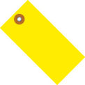 """#8 Yellow Tyvek Tag 6-1/4"""" x 3-1/8"""" - 100 Pack"""