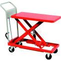 "HAMACO Standard Work Cart with Scissor Lift HLH-400L, 47.2""L x 23.6""W Table, 881 Lb. Capacity"