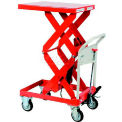 """HAMACO Standard Work Cart with Scissor Lift HLH-400SW, 23.6""""L x 19.7""""W Table, 881 Lb. Capacity"""