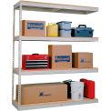 Rivetwell Dbl Rivet Boltless Shelving 96Wx24Dx84H 4 Levels Add-on No Decking 620 Lbs Shelf Cap Tan
